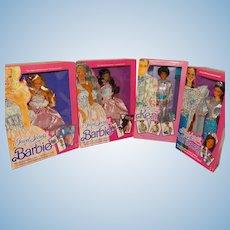 NRFB 1986/1987 Jewel Secrets Barbie AA Barbie Ken Whitney Dolls