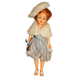 "Vogue 1960s 10"" Jill Doll w/Bubble Dress Outfit"