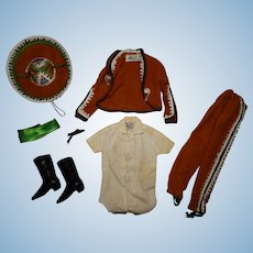 Vintage Ken 99% Complete Ken In Mexico Outfit