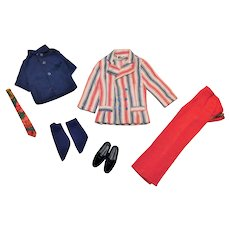 Vintage Ken Complete Sears Red White & Wild Outfit