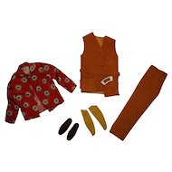 Vintage Ken Complete Suede Scene Outfit