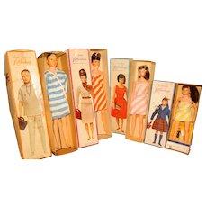 Remco 1963 Littlechap Family Dolls w/Boxes