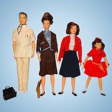 Remco Vintage 1964 Littlechap Family Dolls
