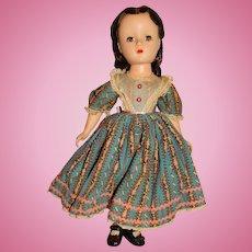 "Madame Alexander Vintage 1949 Hard Plastic 15"" Marme Doll (Beth's Dress)"