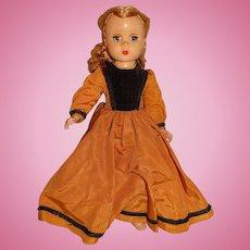 "Madame Alexander 1949 Hard Plastic 15"" Little Women Beth Doll (Amy's Dress)"