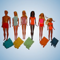 Vintage Malibu Barbie Ken PJ Christie Francie & Skipper Dolls