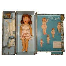 "Madame Alexander 1950s 15"" Marybel Get Well Doll w/Box"