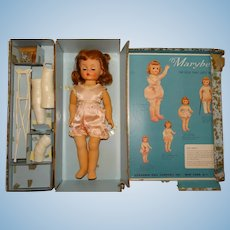 "Madame Alexander 1950s 15"" Marybel Get Well Doll w/Box"