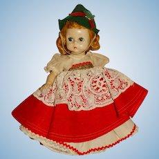 "Madame Alexander 1950s 8"" Tyrolian Doll"
