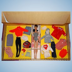 Vintage Barbie Complete 1960 Mix & Match Giftset w/Brunette #4 Doll