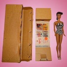 MIB Vintage 1972 Brunette Montgomery Ward Ponytail Barbie Doll