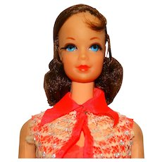 Vintage Brunette Nape Curl Talking Barbie Doll w/Stacey Face