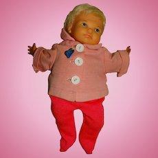 "Ideal Vintage 1967 10"" Working Newborn Thumbelina Doll"