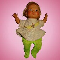 "Ideal Vintage 1967 10"" Newborn Thumbelina Doll w/Music Box"