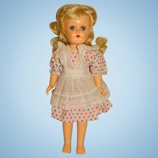 "Ideal 1950s Platinum P-90 Walking Toni Doll 14"""