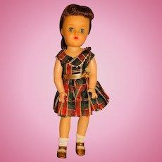 "Ideal 1950s Brunette P-91 16"" Toni Doll"