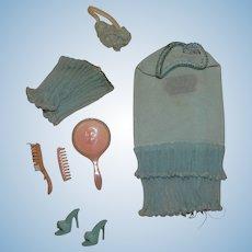 Vintage Barbie Complete PAK Blue Lingerie Outfit