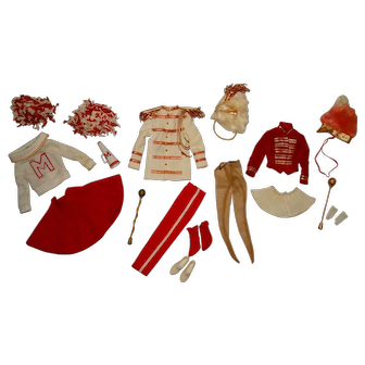 Vintage Barbie Complete Pep Rally Giftset Outfits