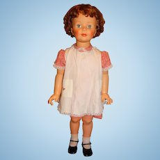 """Ideal 1960s 35"""" Curly Short Hair Patti Playpal Doll w/Original Outfit"""
