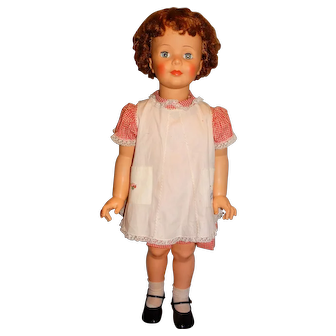 "Ideal 1960s 35"" Curly Short Hair Patti Playpal Doll w/Original Outfit"