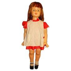 """Ideal 1960s 35"""" Auburn Patti Playpal Doll w/Auburn Lashes"""