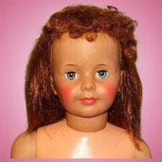 "Ideal 1960s 35"" Auburn Patti Playpal Doll w/Curly Bangs"