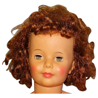 "Ideal 1960s 35"" TLC Curly Short Hair Patti Playpal Doll"