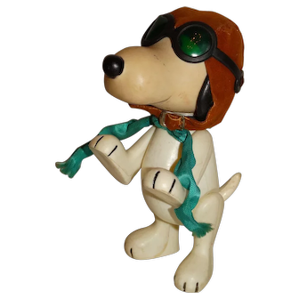 Pocket Pals 1960s Peanuts Snoopy WWI Flying Ace Doll
