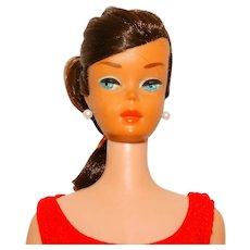 Vintage Brunette Swirl Ponytail Barbie Doll w/Original Hair Set