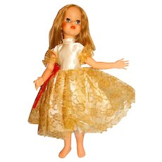 """Eegee 1963 Blonde 23"""" Puppetrina Doll w/Gown"""