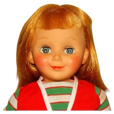 """Reliable Canada 1960s Blonde 20"""" Miss Capri Doll"""