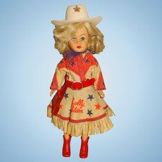 Vintage 1950s Sally Starr Doll w/Red Belt