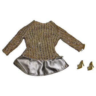 Vintage Barbie Complete Salute To Silver Outfit