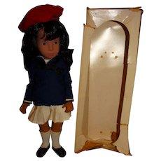 "Serie England 1980s Brunette 16"" Sasha Doll w/Box"