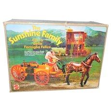 Mattel VHTF Sunshine Family Horse & Wagon w/Box Italy
