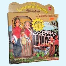 Mattel NRFB 1976 Sunshine Family Greenhouse Dolls