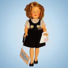 """Ideal 1950s 12"""" Shirley Temple Doll w/Hang Tag"""