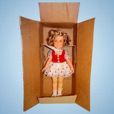 """Ideal 1972 16"""" Shirley Temple Doll w/Shipping Box & Variation Dress"""