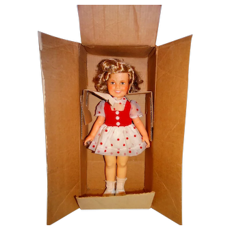 "Ideal 1972 16"" Shirley Temple Doll w/Shipping Box & Variation Dress"