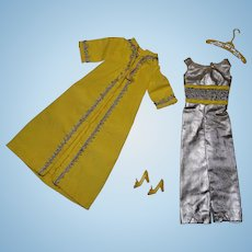 Vintage Barbie Complete Silver Polish Outfit
