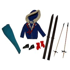 Vintage Barbie 99% Complete Ski Queen Outfit