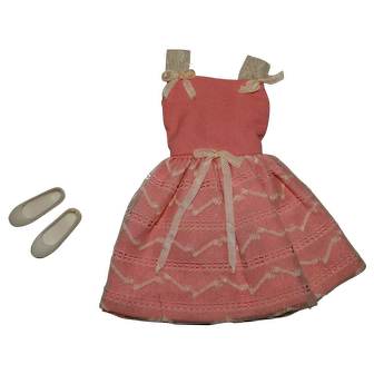 Vintage Barbie Complete Skipper Party Pink Outfit