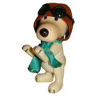 """Pocket Pals 1960s Peanuts 7.5"""" Snoopy WWI Flying Ace Doll"""