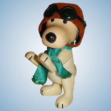 "Pocket Pals 1960s Peanuts 7.5"" Snoopy WWI Flying Ace Doll"