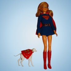 Ideal Vintage 1967 Captain Action Super Queens Supergirl Doll w/Krypto