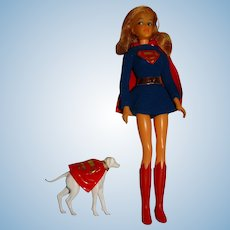 Ideal Vintage 1967 Captain Action Super Queens Supergirl Doll w/Krypto