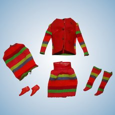 Vintage Stacey Complete Sears Stripes Are Happenin' Giftset Outfit