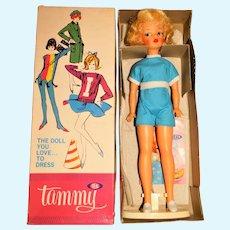 Ideal Vintage Platinum Blonde Straight Leg Tammy Doll w/Box