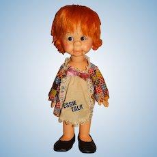 """Horsman 1960s 17"""" Tessie Talk Ventriloquist Doll"""