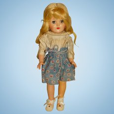 "Ideal 1950s Platinum P-90 Toni Doll 14"""